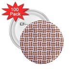 WOVEN1 WHITE MARBLE & RUSTED METAL (R) 2.25  Buttons (100 pack)  Front