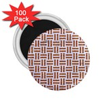 WOVEN1 WHITE MARBLE & RUSTED METAL (R) 2.25  Magnets (100 pack)  Front