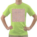 WOVEN1 WHITE MARBLE & RUSTED METAL (R) Green T-Shirt Front