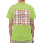 WOVEN1 WHITE MARBLE & RUSTED METAL (R) Green T-Shirt Back