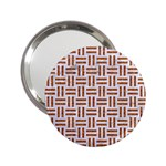 WOVEN1 WHITE MARBLE & RUSTED METAL (R) 2.25  Handbag Mirrors Front