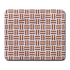 Woven1 White Marble & Rusted Metal (r) Large Mousepads