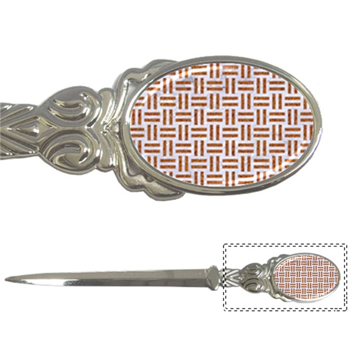 WOVEN1 WHITE MARBLE & RUSTED METAL (R) Letter Openers