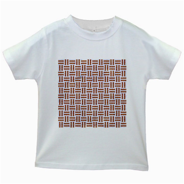 WOVEN1 WHITE MARBLE & RUSTED METAL (R) Kids White T-Shirts