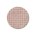 WOVEN1 WHITE MARBLE & RUSTED METAL (R) Magnet 3  (Round) Front