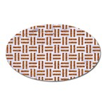WOVEN1 WHITE MARBLE & RUSTED METAL (R) Oval Magnet Front