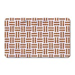 WOVEN1 WHITE MARBLE & RUSTED METAL (R) Magnet (Rectangular) Front