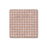 WOVEN1 WHITE MARBLE & RUSTED METAL (R) Square Magnet Front