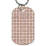 WOVEN1 WHITE MARBLE & RUSTED METAL (R) Dog Tag (One Side) Front