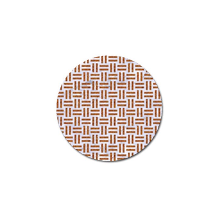 WOVEN1 WHITE MARBLE & RUSTED METAL (R) Golf Ball Marker