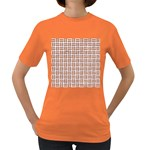 WOVEN1 WHITE MARBLE & RUSTED METAL (R) Women s Dark T-Shirt Front