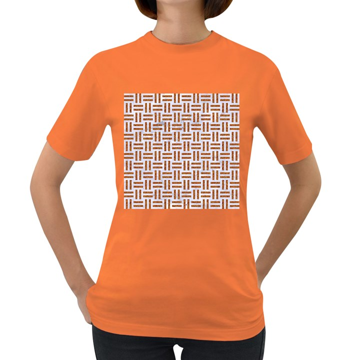 WOVEN1 WHITE MARBLE & RUSTED METAL (R) Women s Dark T-Shirt