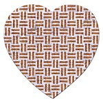 WOVEN1 WHITE MARBLE & RUSTED METAL (R) Jigsaw Puzzle (Heart) Front