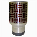 WOVEN1 WHITE MARBLE & RUSTED METAL (R) Travel Mug (Silver Gray) Center