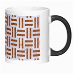 WOVEN1 WHITE MARBLE & RUSTED METAL (R) Morph Mugs Right