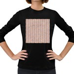 WOVEN1 WHITE MARBLE & RUSTED METAL (R) Women s Long Sleeve Dark T-Shirts Front