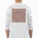 WOVEN1 WHITE MARBLE & RUSTED METAL (R) White Long Sleeve T-Shirts Back