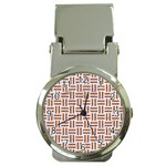WOVEN1 WHITE MARBLE & RUSTED METAL (R) Money Clip Watches Front