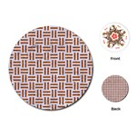 WOVEN1 WHITE MARBLE & RUSTED METAL (R) Playing Cards (Round)  Front