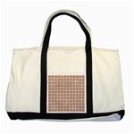 WOVEN1 WHITE MARBLE & RUSTED METAL (R) Two Tone Tote Bag Front
