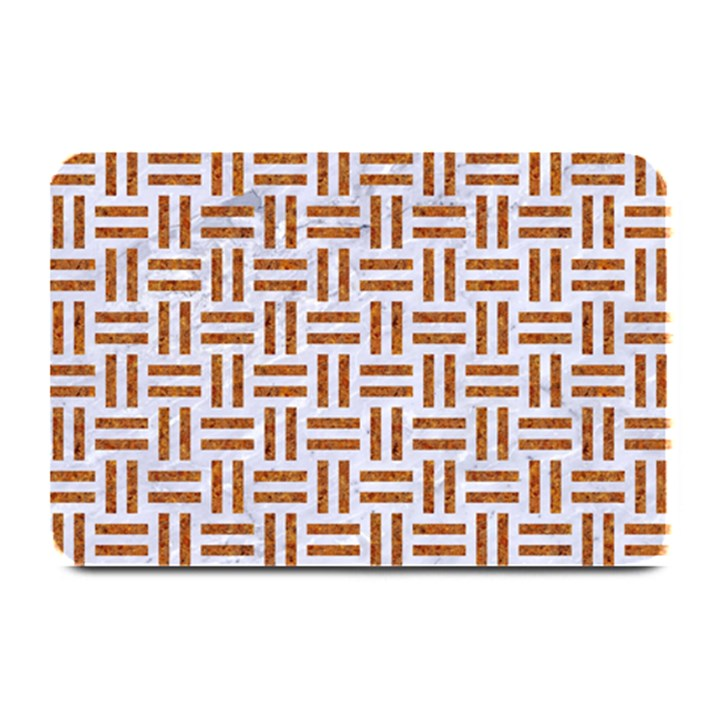 WOVEN1 WHITE MARBLE & RUSTED METAL (R) Plate Mats
