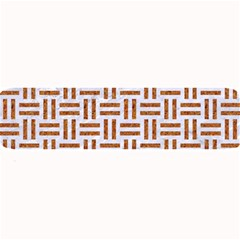 Woven1 White Marble & Rusted Metal (r) Large Bar Mats