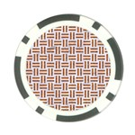 WOVEN1 WHITE MARBLE & RUSTED METAL (R) Poker Chip Card Guard Back