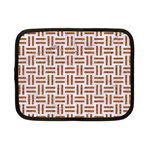 WOVEN1 WHITE MARBLE & RUSTED METAL (R) Netbook Case (Small)  Front