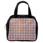 WOVEN1 WHITE MARBLE & RUSTED METAL (R) Classic Handbags (One Side) Front