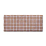 WOVEN1 WHITE MARBLE & RUSTED METAL (R) Cosmetic Storage Cases Front