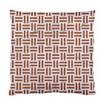 WOVEN1 WHITE MARBLE & RUSTED METAL (R) Standard Cushion Case (One Side) Front