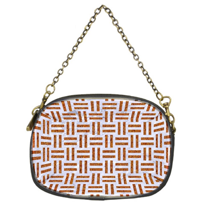 WOVEN1 WHITE MARBLE & RUSTED METAL (R) Chain Purses (Two Sides)