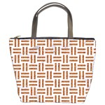 WOVEN1 WHITE MARBLE & RUSTED METAL (R) Bucket Bags Front