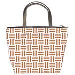 WOVEN1 WHITE MARBLE & RUSTED METAL (R) Bucket Bags Back