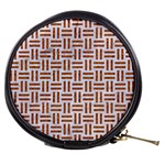 WOVEN1 WHITE MARBLE & RUSTED METAL (R) Mini Makeup Bags Front