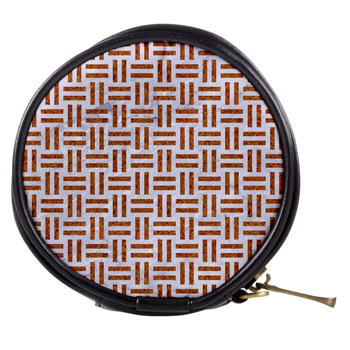 WOVEN1 WHITE MARBLE & RUSTED METAL (R) Mini Makeup Bags
