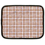 WOVEN1 WHITE MARBLE & RUSTED METAL (R) Netbook Case (XL)  Front