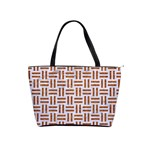 WOVEN1 WHITE MARBLE & RUSTED METAL (R) Shoulder Handbags Front