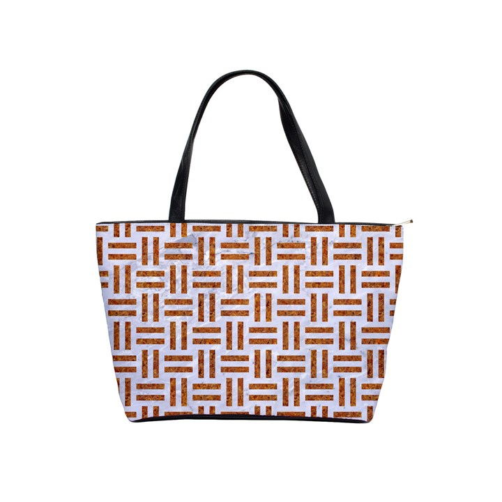 WOVEN1 WHITE MARBLE & RUSTED METAL (R) Shoulder Handbags