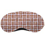 WOVEN1 WHITE MARBLE & RUSTED METAL (R) Sleeping Masks Front