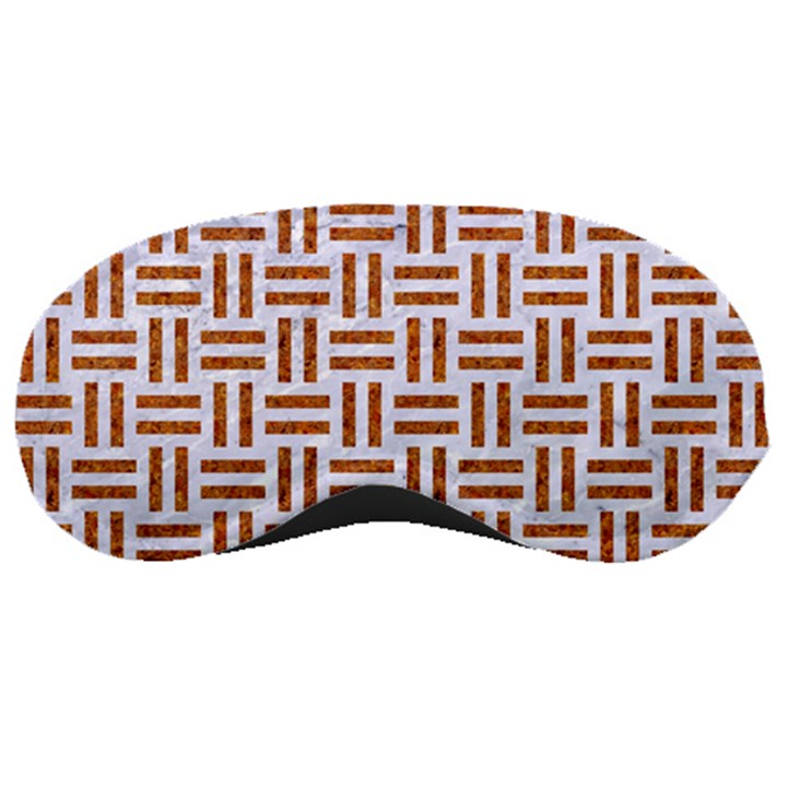 WOVEN1 WHITE MARBLE & RUSTED METAL (R) Sleeping Masks
