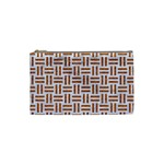 WOVEN1 WHITE MARBLE & RUSTED METAL (R) Cosmetic Bag (Small)  Front