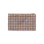 WOVEN1 WHITE MARBLE & RUSTED METAL (R) Cosmetic Bag (Small)  Back