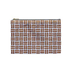 Woven1 White Marble & Rusted Metal (r) Cosmetic Bag (medium)