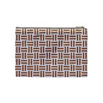 WOVEN1 WHITE MARBLE & RUSTED METAL (R) Cosmetic Bag (Medium)  Back