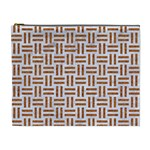 WOVEN1 WHITE MARBLE & RUSTED METAL (R) Cosmetic Bag (XL) Front