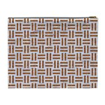 WOVEN1 WHITE MARBLE & RUSTED METAL (R) Cosmetic Bag (XL) Back