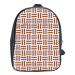 WOVEN1 WHITE MARBLE & RUSTED METAL (R) School Bag (Large) Front