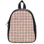 WOVEN1 WHITE MARBLE & RUSTED METAL (R) School Bag (Small) Front