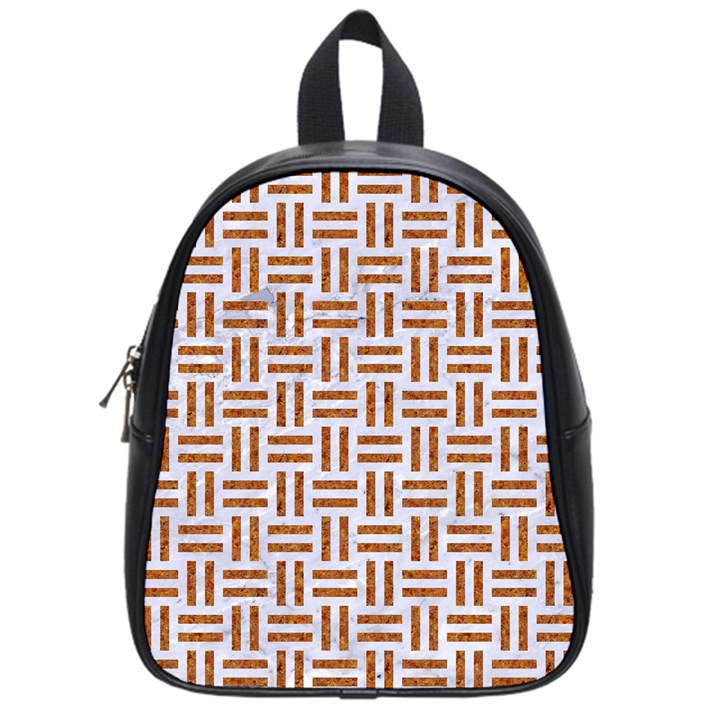 WOVEN1 WHITE MARBLE & RUSTED METAL (R) School Bag (Small)